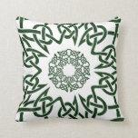 Spun Celtic 4-point Knot Pattern Throw Pillows