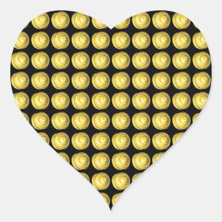 Spun Ceramic Fractal Heart Sticker