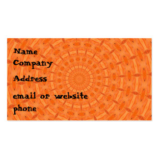 Spun Out Orange Business Card
