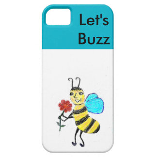 Spunky Bee  Let's Buzz Cell Phone  Cover