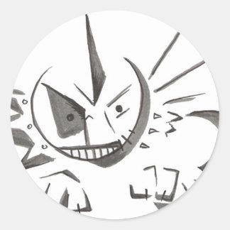 spunky classic round sticker