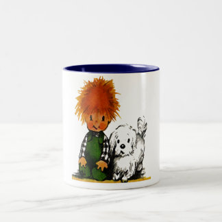 Spunky Little Boy & His Dog Mug