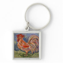 Spunky Rooster Key Chain