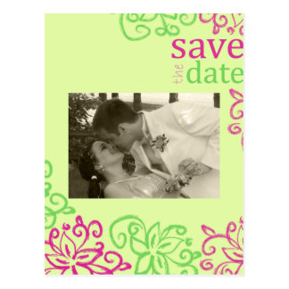 Spunky Save THe Date Photo Card Postcard