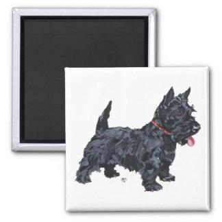 Spunky Scottie Dog 2 Inch Square Magnet
