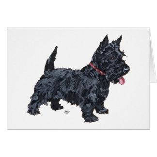Spunky Scottie Dog Card