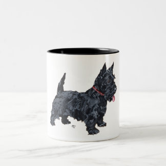 Spunky Scottie Dog Two-Tone Coffee Mug