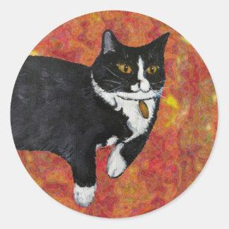 Spunky the Cat Classic Round Sticker