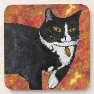 Spunky the Cat Cork Coasters