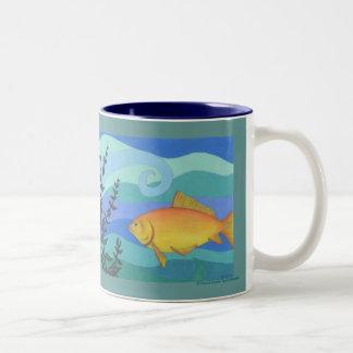 Spunky Two-Tone Coffee Mug