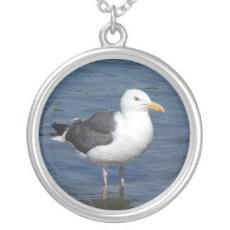 Spunky Wading Seagull Necklace