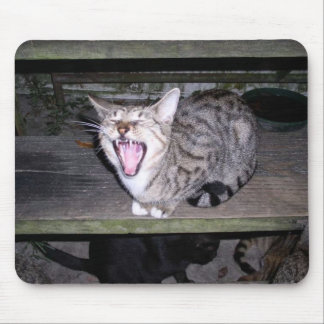 Spunky, Yawning Mouse Pad