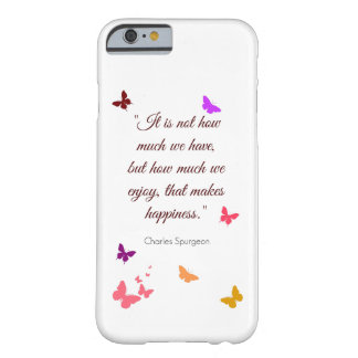 Spurgeon happiness quote iPhone 6/6s case