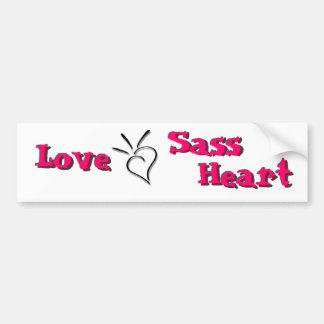 Spurting Sass Heart - Bumper Sticker