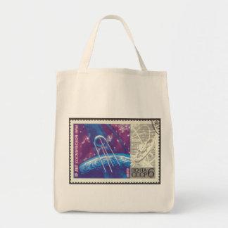 Sputnik 1 15 Years Russian Space Science Canvas Bag