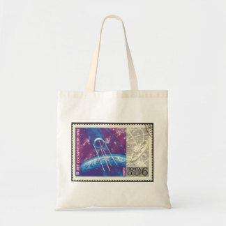 Sputnik 1 15 Years Russian Space Science Tote Bags