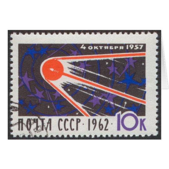 Sputnik 1 5th Anniversary 1962 Card
