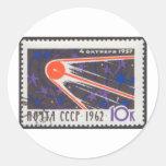 Sputnik 1 5th Anniversary 1962 Classic Round Sticker