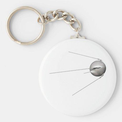 Sputnik 1 llavero redondo tipo pin