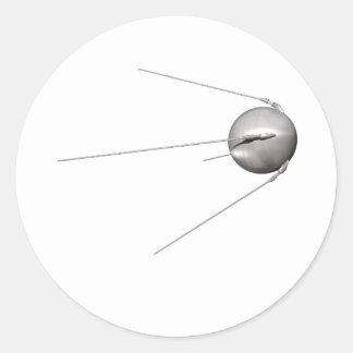 Sputnik 1 pegatina redonda