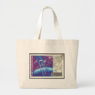 Sputnik 1 Russian Space Science 15 Years Canvas Bag
