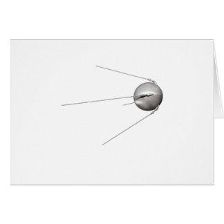Sputnik 1 tarjeta de felicitación