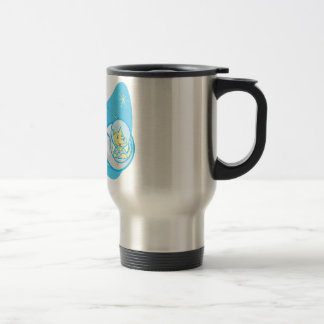 Sputnik and Laika 15 Oz Stainless Steel Travel Mug