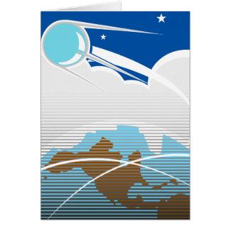 Sputnik in Orbit Card