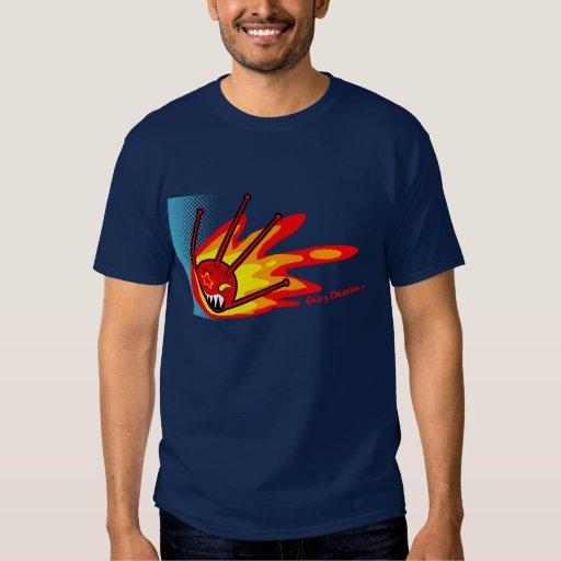 sputnik on fire  shirt