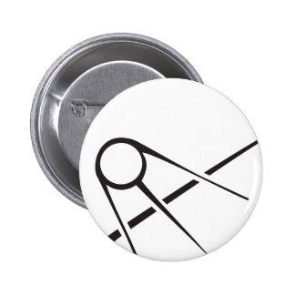 Sputnik over Earth Black and White Button