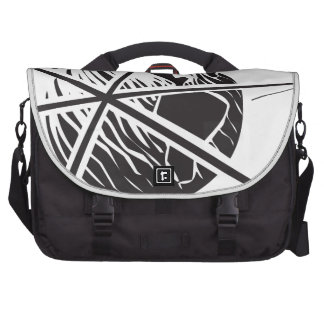 Sputnik over Earth Black and White Commuter Bags