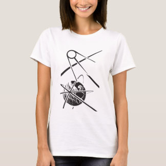 Sputnik over Earth Black and White T-Shirt