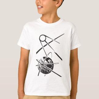 Sputnik over Earth Black and White T-Shirt