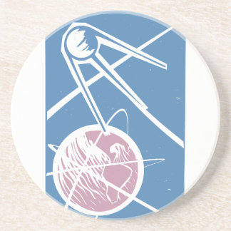 Sputnik over Earth Drink Coaster
