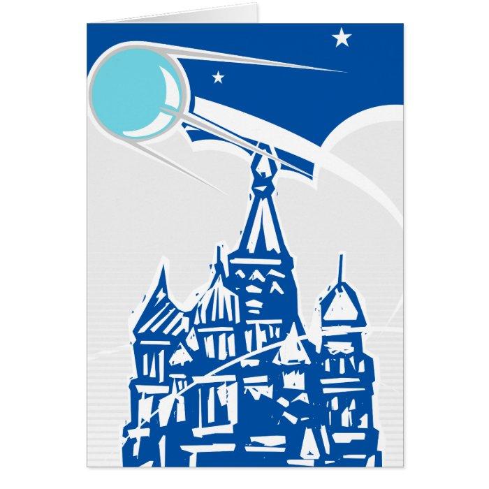 Sputnik over Kremlin Card