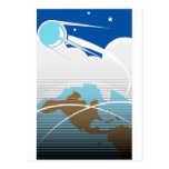 Sputnik over North America Postcard