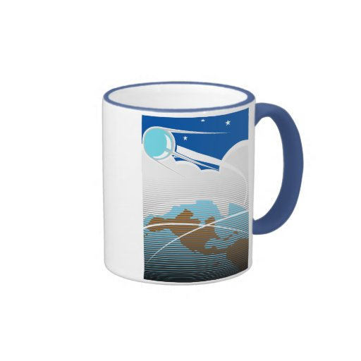 Sputnik over North America Ringer Coffee Mug