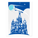 Sputnik sobre el Kremlin Postales