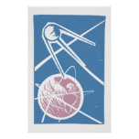 Sputnik sobre la tierra poster