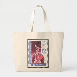 Sputnik Space Exploration Monument 1965 Canvas Bags