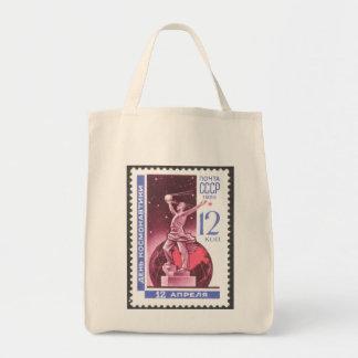 Sputnik Space Exploration Monument 1965 Tote Bag