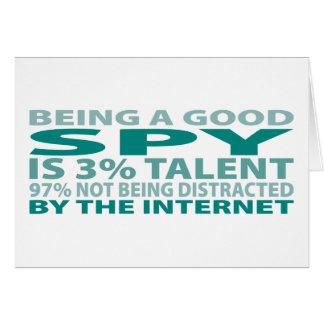 Spy 3% Talent Greeting Card