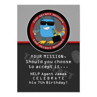 SPY Birthday Party Card