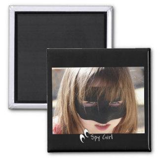 Spy Girl 2 Inch Square Magnet