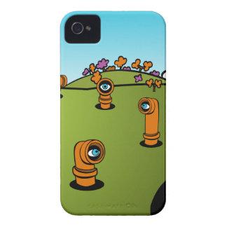 Spy Periscope Cartoon iPhone 4 Case-Mate Cases