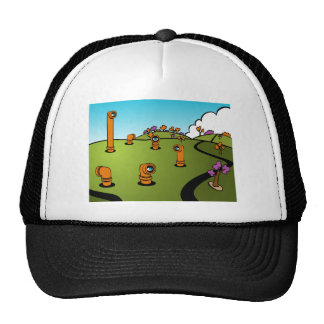 Spy Periscope Cartoon Trucker Hat