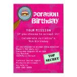 Spy / Secret / Special Agent Birthday Party Card