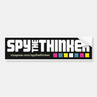 "Spy The Thinker ""Ruby Kill Club"" Bumper Sticker"