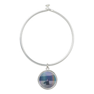 Spyhop Killer Whale with rainbow bangle bracelet