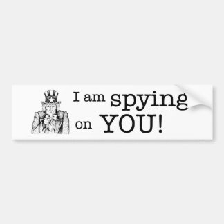 Spying Bumper Sticker